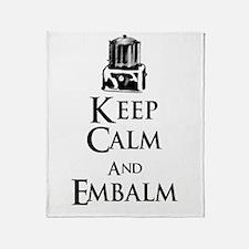 Keep Calm and Embalm Light Throw Blanket