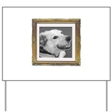 Your Photo in a Silver Frame Yard Sign