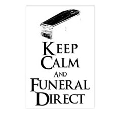 Keep Calm and Funeral Direct Postcards (Package of