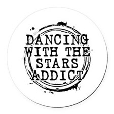 Dancing With the Stars Addict Round Car Magnet