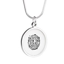 Dancing With the Stars Addict Silver Round Necklac