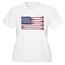 Lacrosse Americas Game Plus Size T-Shirt