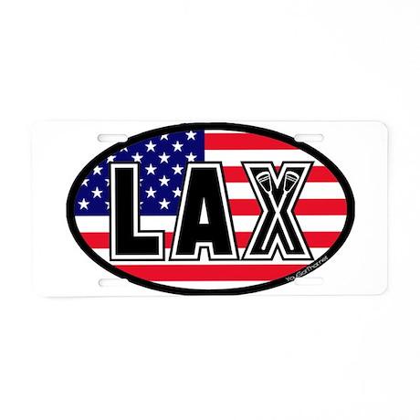 Lacrosse America Oval Aluminum License Plate