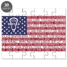 Lacrosse Defense Flag Puzzle