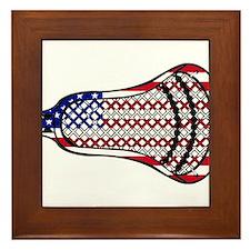 Lacrosse Flag Head 600 Framed Tile