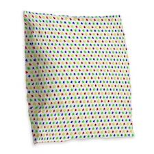 Meeple Pattern Burlap Throw Pillow