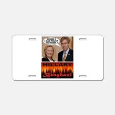 BENGHAZI BELLE Aluminum License Plate