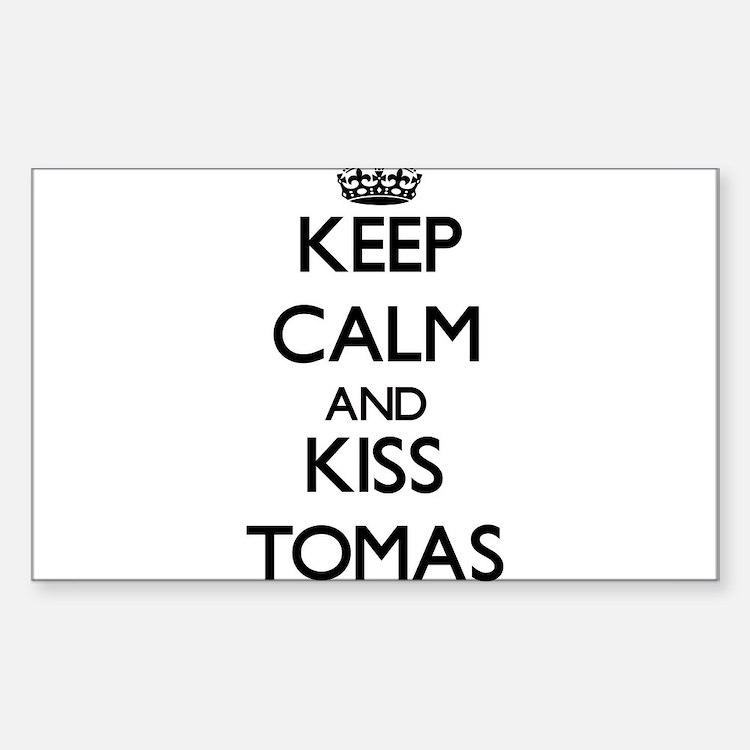 Keep Calm and Kiss Tomas Decal