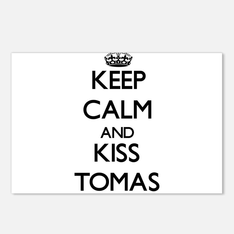 Keep Calm and Kiss Tomas Postcards (Package of 8)