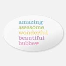 Bubbe - Amazing Awesome Sticker (Oval)
