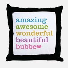 Bubbe - Amazing Awesome Throw Pillow