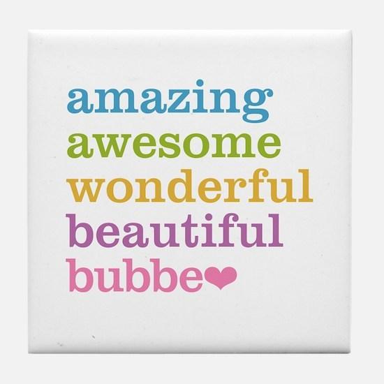 Bubbe - Amazing Awesome Tile Coaster