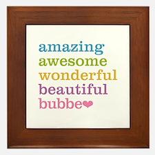 Bubbe - Amazing Awesome Framed Tile
