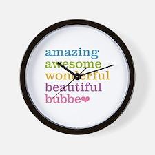Bubbe - Amazing Awesome Wall Clock