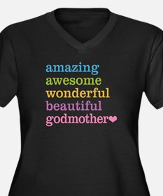 Godmother - Women's Plus Size V-Neck Dark T-Shirt