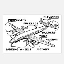 Airplane Postcards (Package of 8)