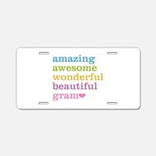 Gram - Amazing Awesome Aluminum License Plate