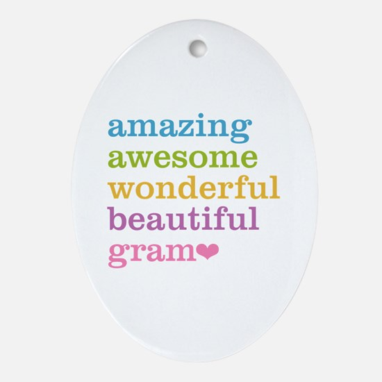 Gram - Amazing Awesome Ornament (Oval)