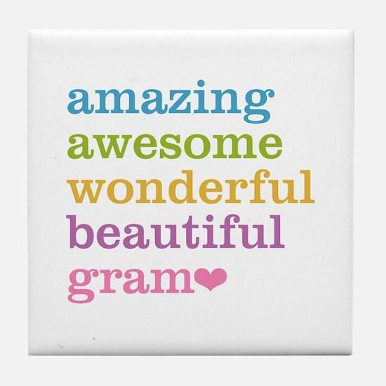 Gram - Amazing Awesome Tile Coaster