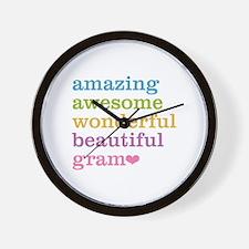 Gram - Amazing Awesome Wall Clock