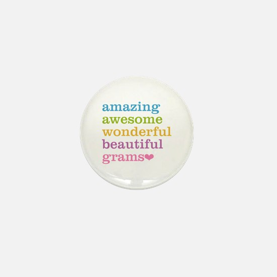 Grams - Amazing Awesome Mini Button