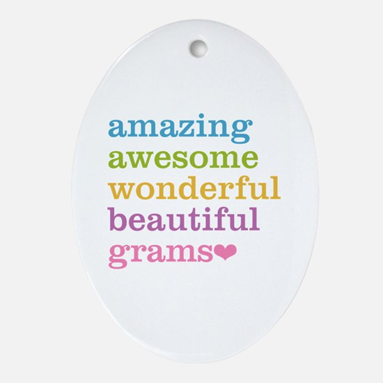Grams - Amazing Awesome Ornament (Oval)