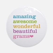 Grams - Amazing Awesome Ornament (Round)