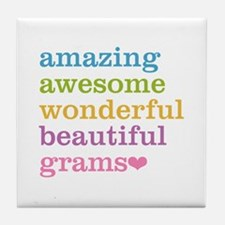 Grams - Amazing Awesome Tile Coaster
