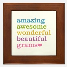 Grams - Amazing Awesome Framed Tile
