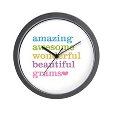 Grams - Amazing Awesome Wall Clock