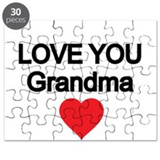 LOVE YOU GRANDMA WITH RED HEART Puzzle