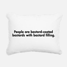 People are Bastards Rectangular Canvas Pillow