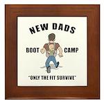 New Dad Boot Camp Framed Tile