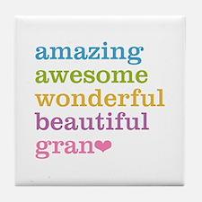 Gran - Amazing Awesome Tile Coaster