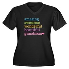 Grandmom - A Women's Plus Size V-Neck Dark T-Shirt