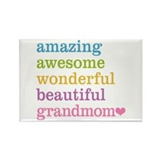 Grandmom - Amazing Awesome Rectangle Magnet