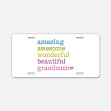 Grandmom - Amazing Awesome Aluminum License Plate