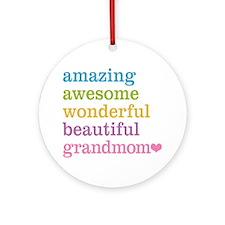 Grandmom - Amazing Awesome Ornament (Round)