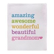 Grandmom - Amazing Awesome Throw Blanket