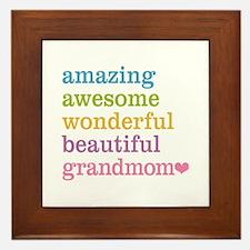 Grandmom - Amazing Awesome Framed Tile