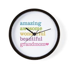 Grandmom - Amazing Awesome Wall Clock