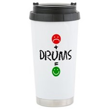 Plus Drums Equals Happy Travel Mug