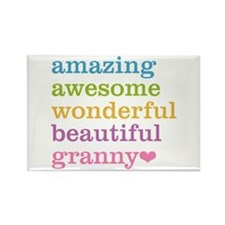 Granny - Amazing Awesome Rectangle Magnet