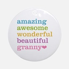 Granny - Amazing Awesome Ornament (Round)