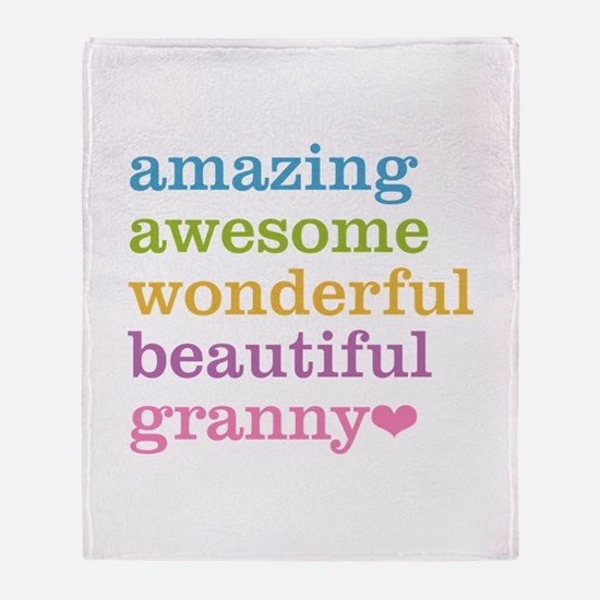Granny - Amazing Awesome Throw Blanket