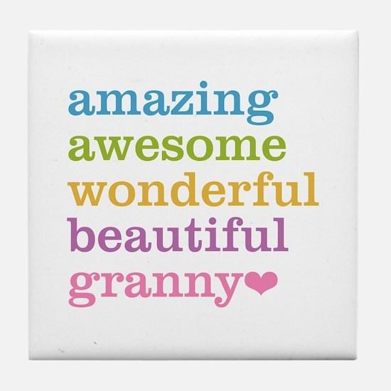 Granny - Amazing Awesome Tile Coaster