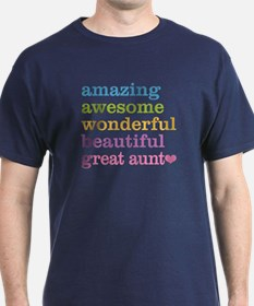 Great Aunt - Amazing Awesome T-Shirt