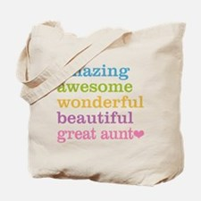 Great Aunt - Amazing Awesome Tote Bag
