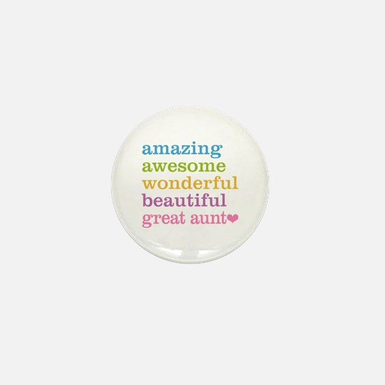 Great Aunt - Amazing Awesome Mini Button