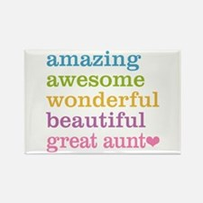 Great Aunt - Amazing Awesome Rectangle Magnet